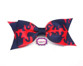 """Tusk in the Sun Bow ~ 3.5"""" Hairbow ~ Lilly Inspired ~ Small Hair Bow ~ Girls Barrette ~ Toddler Bow ~ Hair Clip ~ Girls Hair Bow"""