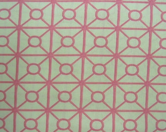 """Fabric - Tina Givens - Linen - 54"""" Wide - Home Decor - Pink - Contemporary - Sewing - Quilting - Crafts"""