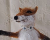 Needle felted fox...Genevieve the seamstress