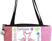 Flamingo Love Zippered Pouch or Handbag Kit