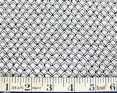 Fish Net black on WHITE FABRIC Kristen Berger Fishline Fabric for Maywood Studio MAS8858-W