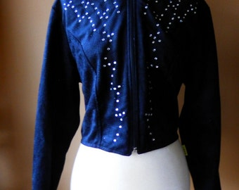 Women's Vintage  1849 Authentic Ranchwear Western Show Jacket with Studded Rhinestones size M