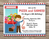 PRINTABLE Arcade Invitation, Arcade Birthday Invitation, Arcade Party Invitation, Pizza Party Invitation, Pizza Invitation, Pizza Birthday