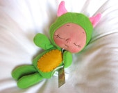 Green Plush Monster Doll by BeBe Babies