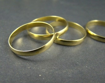 20% OFF SALE - 50 Percent OFF Sale - 20pcs 18mm Antique Raw Brass Smooth Rings Ri023