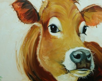 Cow painting 1140 18x24 inch animal original oil painting by Roz