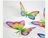 NEW YEAR SALE B124 - 12 x Rainbow Butterflies for decoration