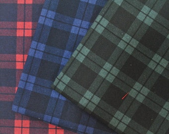 Gingham Checks - Cotton Linen Fabric - half yard
