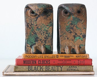 Vintage Mid Century Modern Owl Bookends, Japan