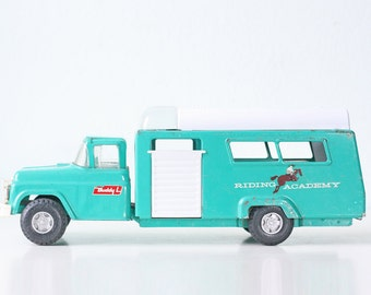 Vintage Buddy L Riding Academy Turquoise Truck