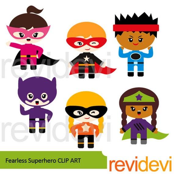 Cute Superhero Clip Art Fearless Superhero Clipart By Revidevi