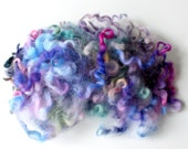 hand dyed locks, english leicester locks, wool locks, hand dyed wool, weaver felter spinning fiber, fibre art supplies .. plumtastic