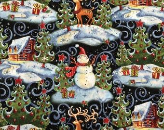 Christmas snowman fabric - 3 yards