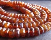 AB Mystic Hessonite Garnet beads Rondelles - semiprecious gemstone - 6 1/2 inches