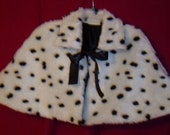 Children's Dalmatian cape, faux fur wedding capelet, Costumes