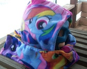 My Little Pony Fleece Hooded Scarf Scoodie Rainbow Dash Ready To Ship
