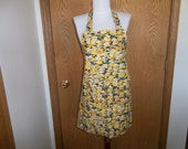 Minions Apron, Yellow, Reversible, Front Pocket, Adjustable Neck Strap
