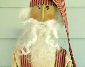 Primitive Santa Claus with sack doll