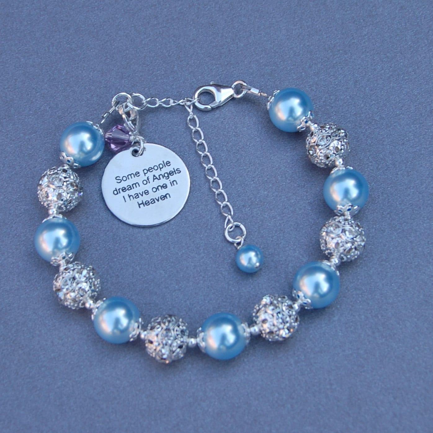 Memory Charm Bracelets: Someone In Heaven Gift In Memory Jewelry Memorial Bracelet