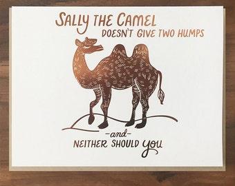 Sally the Camel Foil Card