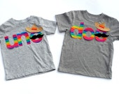 Uno Or Dos //Rainbow// MexicanTheme Birthday//Sombrero//Mustache//Fabric Iron On Appliques//Three Designs Available