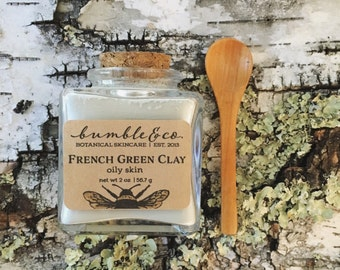 French Green Clay Mask   Gentle Natural Clay Mask   Mineral Face Mask   Oily Skin Mask    Acne Mask   Exfoliating Mask   Clarifying Mask