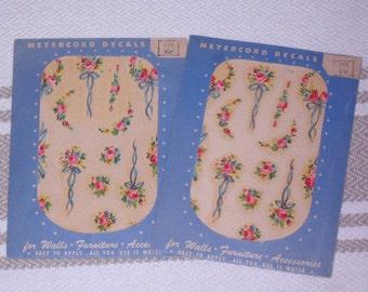 2 Packages of Vintage Rose Transfer Decals
