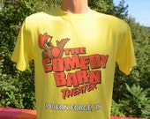 80s vintage t-shirt COMEDY BARN theater pigeon forge tennessee tee Medium funny