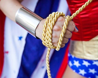 Wonder Woman Silver or Gold Cuffs bracers costume cosplay accessory adjustable custom fit