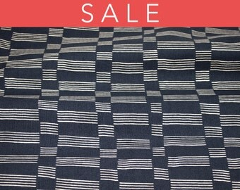 SALE - Lotta Jansdotter Lucky Collection - Etapp in Midnight Navy - fabric by the half yard