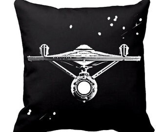 Star Trek Throw pillows, Star Trek throw pillow, Star Trek Pillow cover, spaceship pillow, Enterprise pillow, Cotton, Sci-Fi, Geek pillows