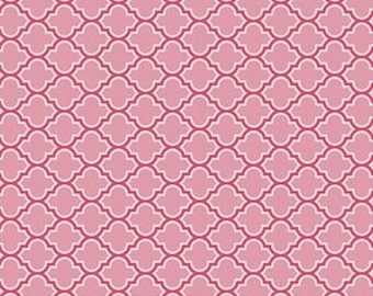 Joel Dewberry Fabric, True Colors, Lodge Lattice in Pink - HALF YARD - SALE