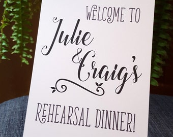 Rehearsal Dinner Sign, Wedding Signage, Wedding Decor, Reserved Sign, Wedding Rehearsal, Etsy Weddings