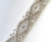 SALE / Crystal Applique / DIY Bride / Belt Applique