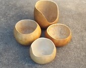 Reserved for Jane 5 Prepared Gourd Bowls Cleaned Drilled for Coiling Crafts Beading Pine Needle Basket Supply