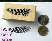 P95 Feather rubber stamp WM