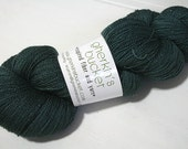 hand dyed yarn - Shimmer Silk Lace - To The Depths colorway