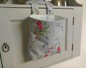 Thread Catcher & Pin Cushion - Dragonflies and Wild Flowers - Handmade