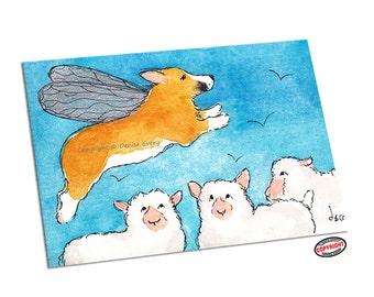 Welsh Corgi Art Print Pembroke Welsh Corgi Dog Art ACEO Corgi Lover Corgi Gift ACEO Print Corgi Print Corgi Artwork ACEO Corgi Denise Every