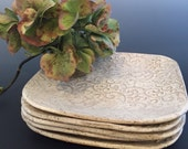 Serving Plate - White Appetizer Plate - Ceramic Serving Plate - Square Plate - Tapas Plate