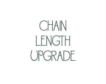 Fine Metal Chain Length Upgrade - Choose Your Custom Length