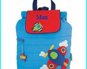 Toddler backpack - monogram backpack - personalized toddler backpack - backpack diaper bag - School supplies - monogram bag - airplane bag