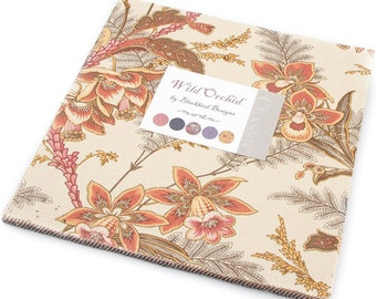 "Wild Orchid Moda Layer Cake 42 -  10"" precut quilt squares by Blackbird Designs"