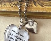 She leaves a little sparkle quote necklace