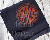 Monogrammed Sweatshirt Stadium Blanket