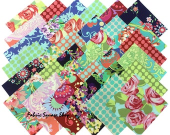 """SQ71 Amy Butler LOVE Precut 6.5"""" Charm Pack Fabric Quilting Cotton Squares Westminster Fibers"""