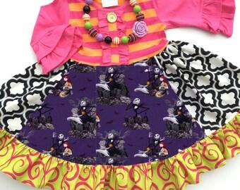 Nightmare Before Christmas dress Disney girls boutique clothing custom