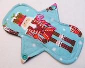 7.25 Inch (17 cm) Regular / Moderate - Reusable Cloth Menstrual Pad (7BMC) - Nutcracker
