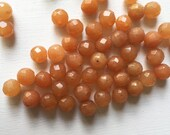 Red Aventurine 8mm Faceted Rounds
