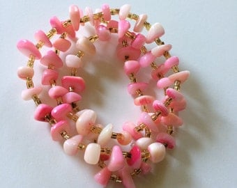 Upcycled pink vintage shell bracelet Small Business Saturday sale!